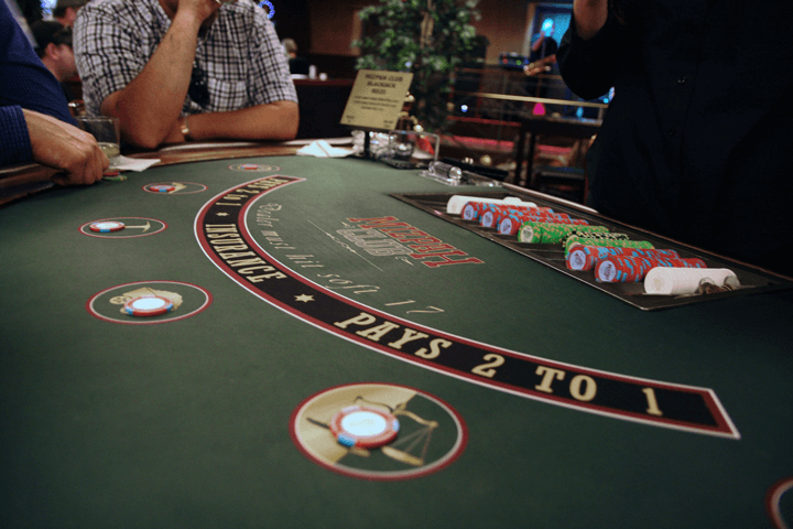 Customers Playing Live Blackjack